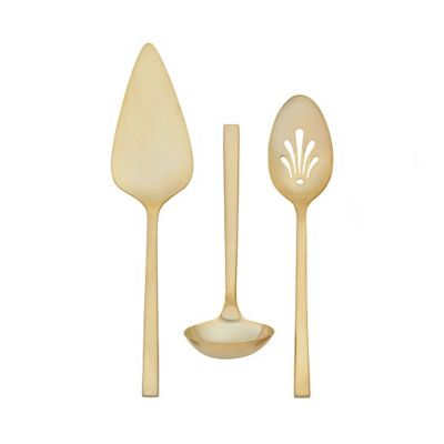 Vera Wang Polished Gold Flatware 3 Piece Serving Set