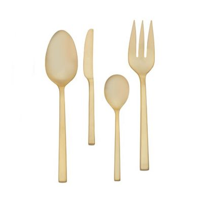 Vera Wang Polished Gold Flatware 4 Piece Hostess Set