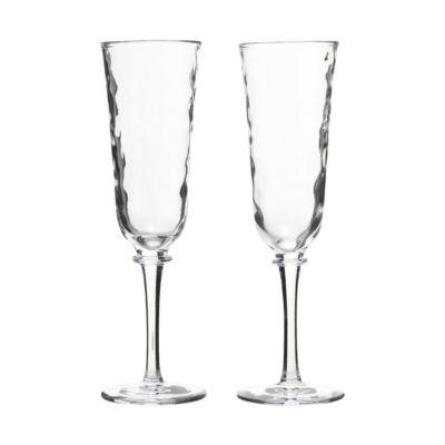 juliska carine toasting flutes, set of 2