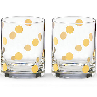 Kate Spade Pearl Place Double Old Fashioned, Set of 2