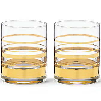 Kate Spade Hampton Street Double Old Fashioned, Set of 2