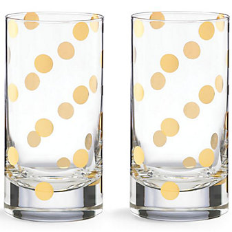 Kate Spade Pearl Place Highball, Set of 2