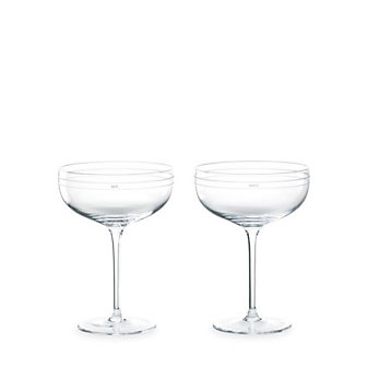 Kate Spade Darling Point Saucer Champagne Pair