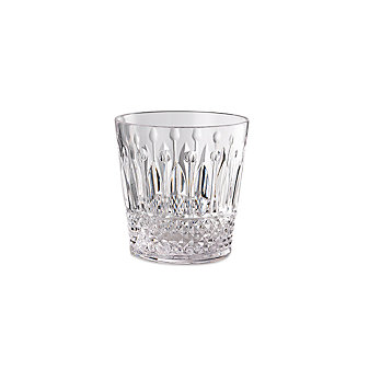 Mario Luca St. Germain Double Old Fashioned Clear Glass