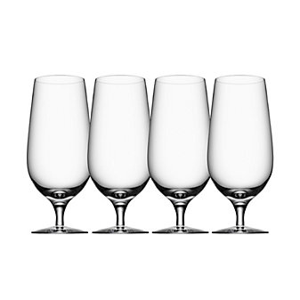 Orrefors Stemware Beer Lager Set of Four