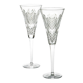 Waterford Wedding Heirloom Flute Pair