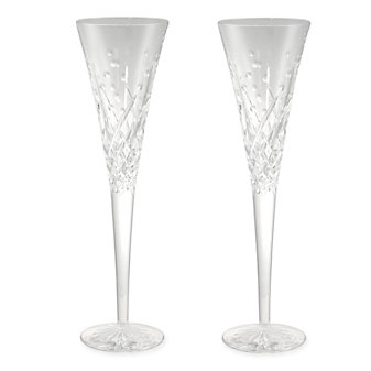 Waterford Wishes Happy Celebration Pair of Champagne Flutes