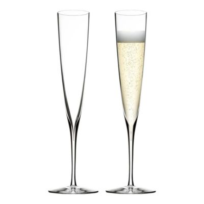 Waterford Elegance Champagne Trumpet Flute Pair
