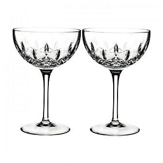 Waterford Lismore Pop Cocktail Pair Clear