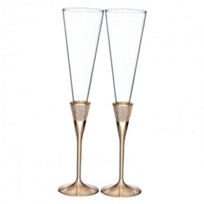WATERFORD_LISMORE_DIAMOND_TOASTING_FLUTE_PAIR_GOLD