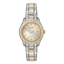 Citizen Silhouette Crystal Two-Tone Watch