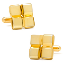 Gold Plated Woven Cufflinks
