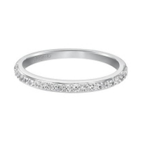 Artcarved 14k White Gold Anniversary Band