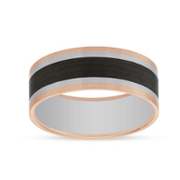 Furrer-Jacot 18k Rose Gold Carbon Fiber Band