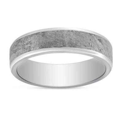 Cobalt Chrome Meteorite Wedding Band 6mm Borsheims