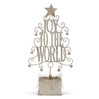 Joy to the World Metal Tree Figure