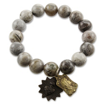Miracle Icons Bamboo Agate Bracelet