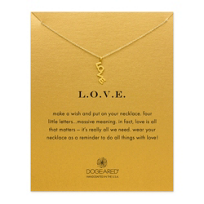 Dogeared Gold Dipped L-O-V-E Necklace